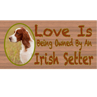 Irish Settler Wood Signs -Irish Settler GS430 Dog Sign -Dog Plaque