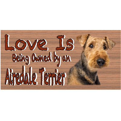 Airedale Wood Signs -Airedale GS 433 Dog Sign