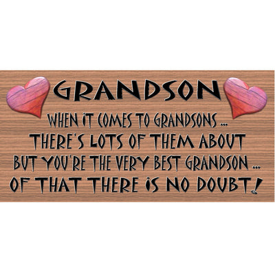 Grandson Wood Signs - Best Grandson Plaque -GS 021