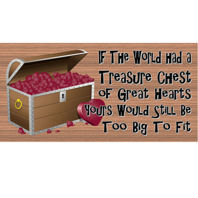 Romantic Wood Signs -Treasure Chest- GS 357 - Love