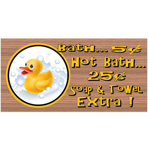 Bathroom Wood Signs - Bathroom Rates GS292 - Bathroom Rules