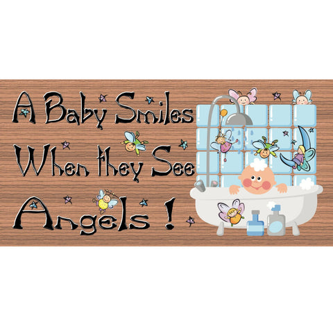 Wood Signs - Handmade Wood sign baby, GS904, Baby wood sign, Baby room sign, nursery sign, angel sign
