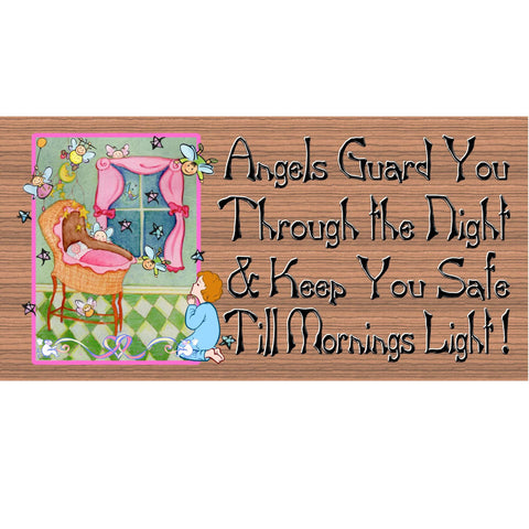 Wood Signs - Handmade Wood sign baby, GS906, Baby wood sign, Baby room sign, nursery sign, angel sign