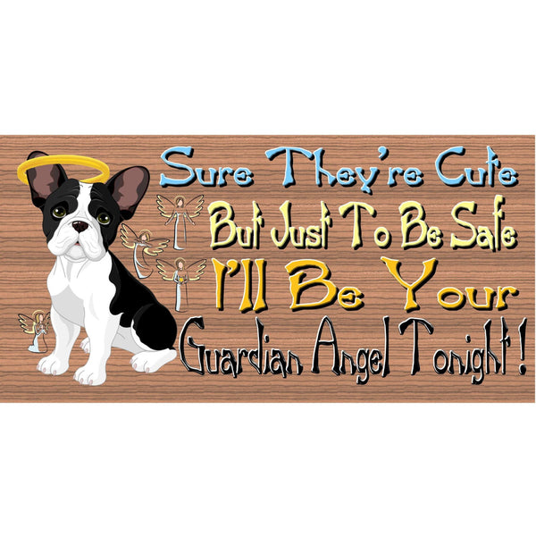 Wood Signs -French Bulldog GS461 French Bulldog Guardian Angel