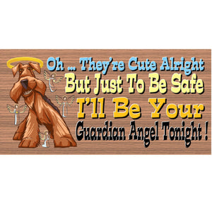 Airedale Wood Signs -  GS 464 - Airedale  Plaque- Dog Sign