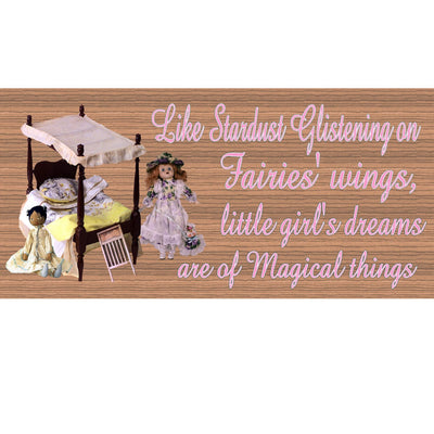 Child Wood Signs -Little Girls GS 381X - Child Plaque