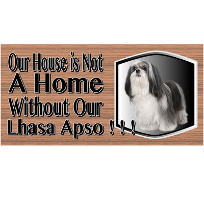 Lhaso Apso Wood Signs -GS 480-  Lhaso Apso  Plaque