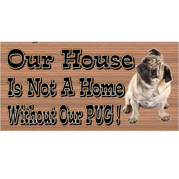Wood Signs - Handmade Wood sign, Pug Dog, GS484 , Pug wood sign, Pug plaque, home decor sign