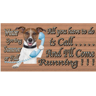 Jack Russell Wood Signs -Jack Russell Dog Plaque GS485- Dog Sign