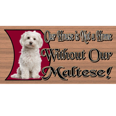 Maltese Wood Signs -Maltese - GS487 -- Dog Wood Signs - Maltese Dog sign - Dog Sign