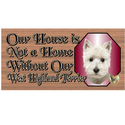 West Highland Terrier Wood Signs - GS 496 - Dog Signs