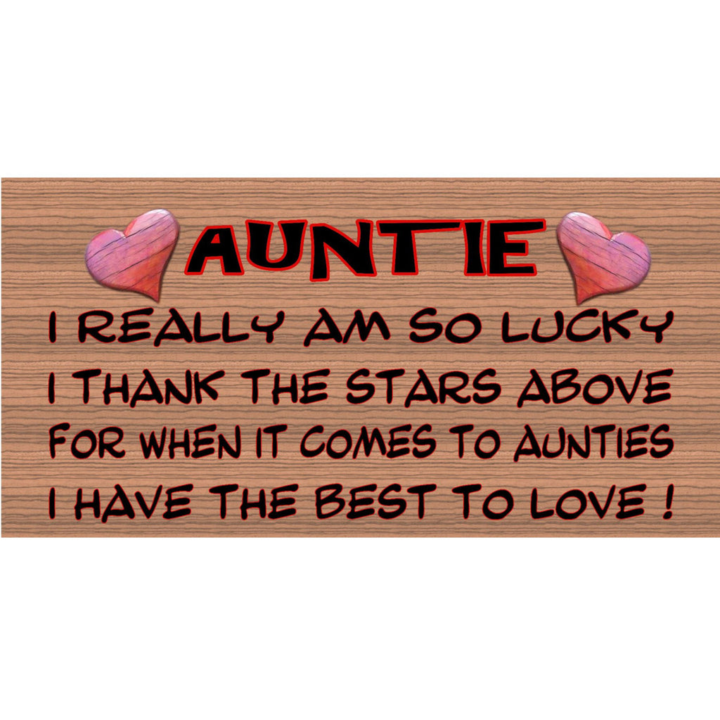 Wood Signs - Handmade Wood sign, Auntie GS006 Aunt plaque, Auntie wood sign, Gigglesticks wood sign