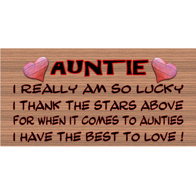 Aunt Wood Signs -GS006-Aunt Plaque
