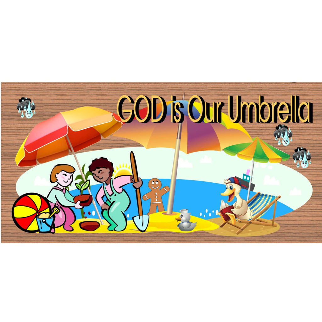Wood Signs - God is Our Umbrella GS1021