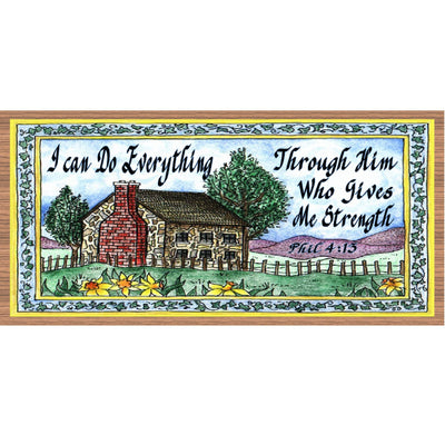 Spiritual Wood Signs -I can Do Everthing- GS 672- Spiritual Plaque
