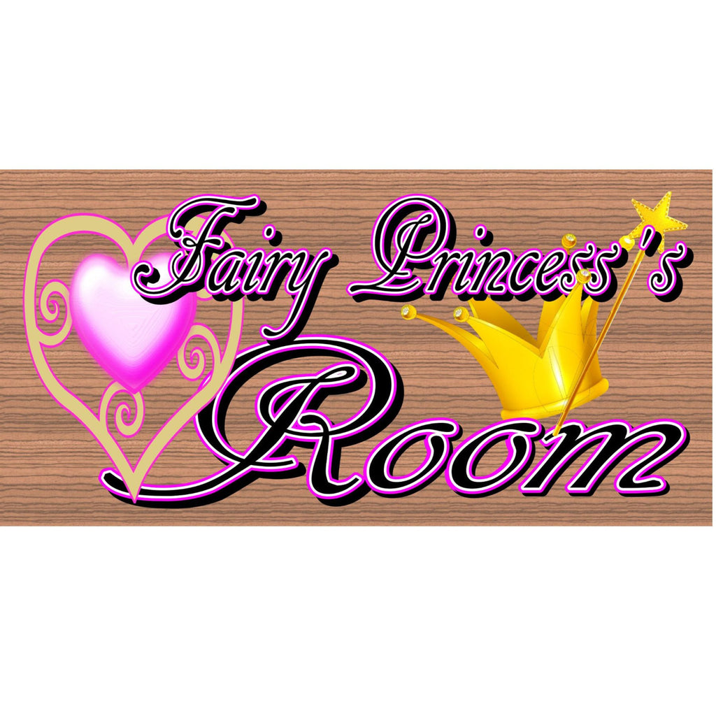 Wood Signs - Fairy Princess Room GS 1101 Childs Room