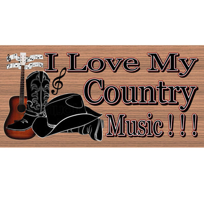 Country Wood Signs -  Country Music- GS 1041 -Country music sign