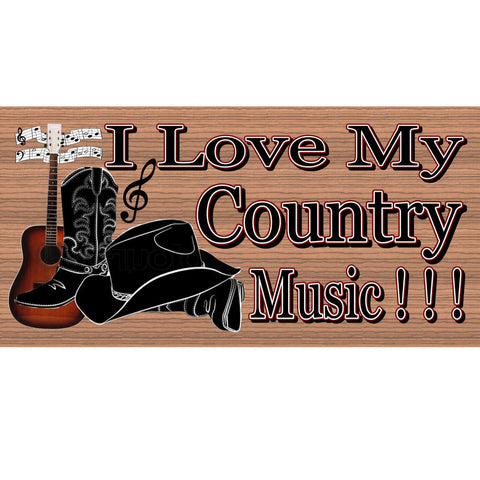 Country Wood Signs -  Country Music- GS1041 -Country music sign, Gigglesticks wood sign