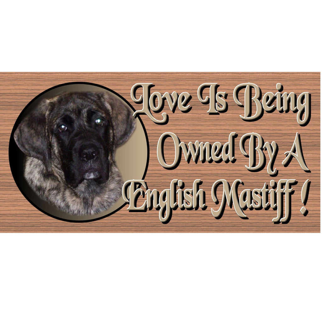 Wood Signs - English Mastiff Dog Plaque GS 1122 Wood Plaque Wood Signs -
