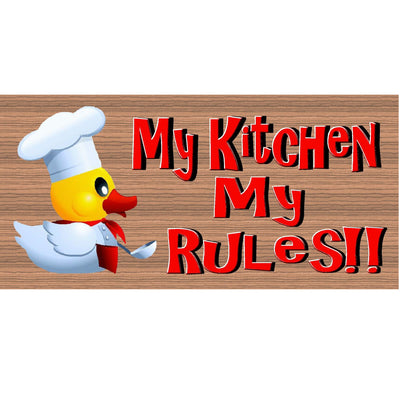 Kitchen Wood Signs -My Kitchen My Rules GS 1049 - Kitchen Plaque