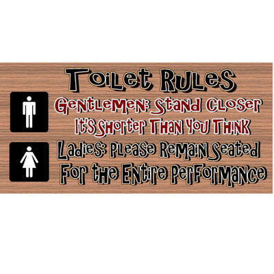 Bathroom Wood Signs -   GS 756 - Bathroom Plaque