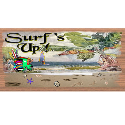 Beach Wood Signs -Surf's Up- GS 1136 - Tropical Sign