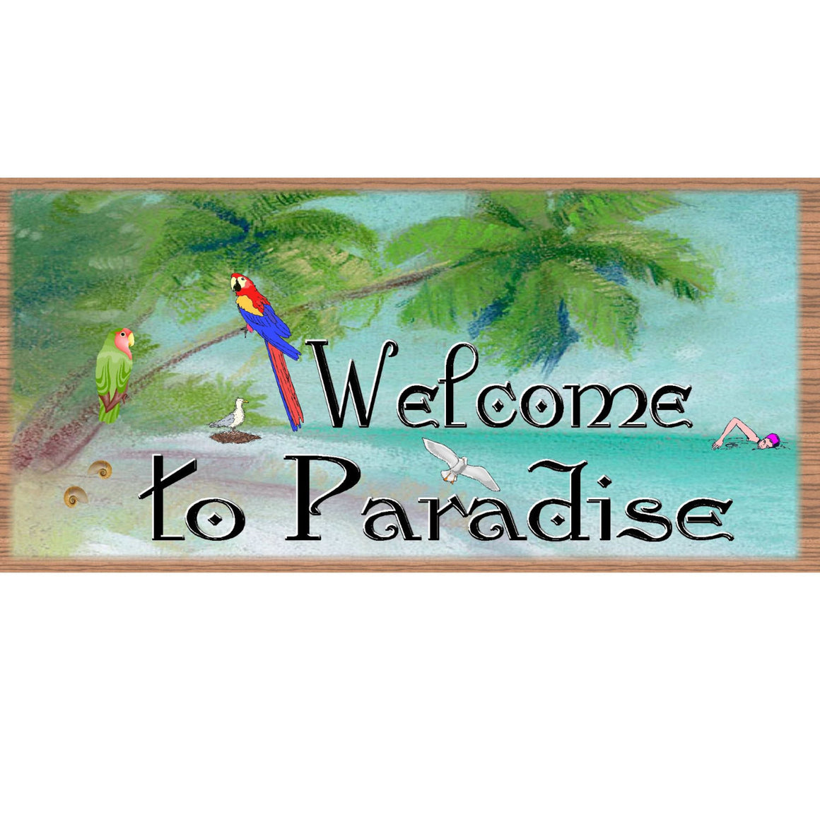 Beach Wood Signs Tropical GS 1058 Beach Decor -Tropical