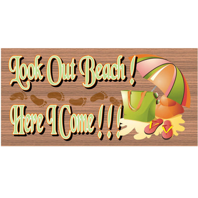 Beach Wood Signs -GS 1143- Tropical Sign