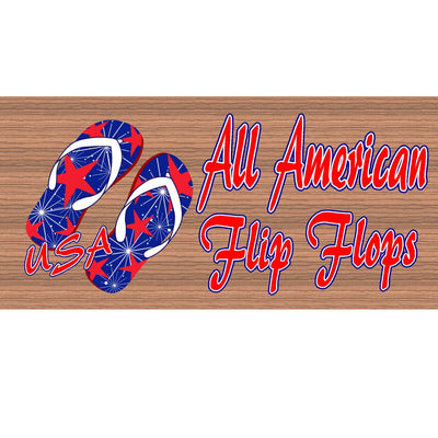 Flip Flop Wood Signs -GS 916 - Flip Flop Plaque
