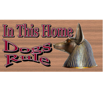Dog Wood Signs - Dogs Rule GS 1226 Wood Plaque