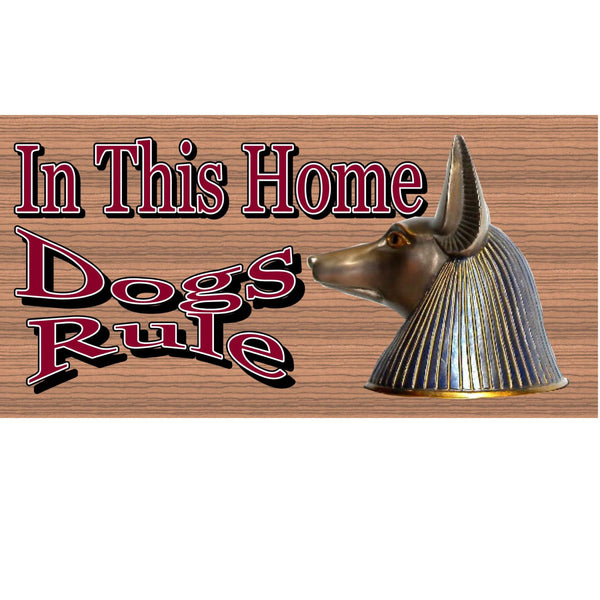 Wood Signs - Dogs Rule GS 1226 Wood Plaque