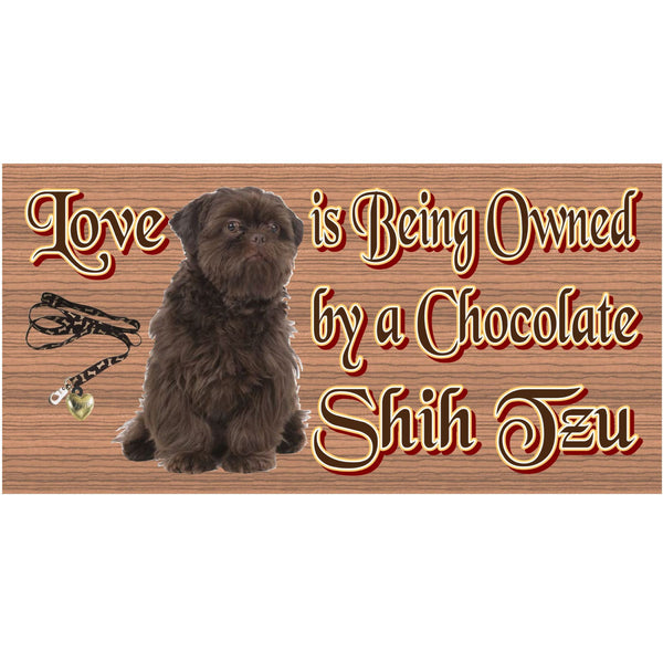 Wood Signs - Chocolate Shih Tzu GS1250 Wood Plaque