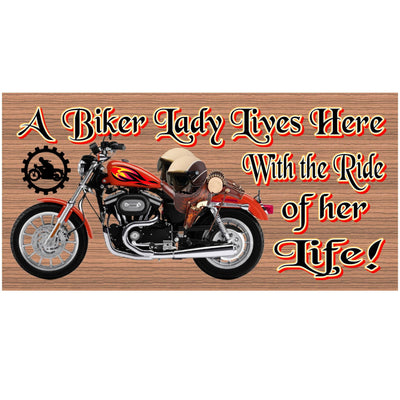 Motorcycle Wood Signs -GS 1249 - Motorcycle  Plaque