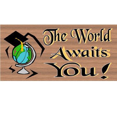 Graduation Wood Signs - GS 951-Graduations Plaque