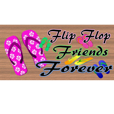 Flip Flop Wood Signs - GS 952 - Flip Flop Plaque