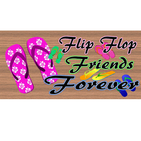 Wood Signs - Handmade Wood sign, Flip Flop, Friend wood sign GS952, Friend plaque