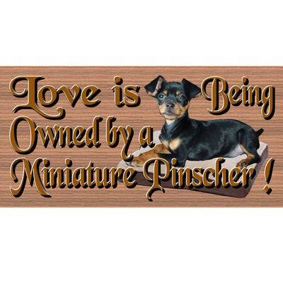 Miniature Pinscher Wood Signs- GS1269- Dog Signs