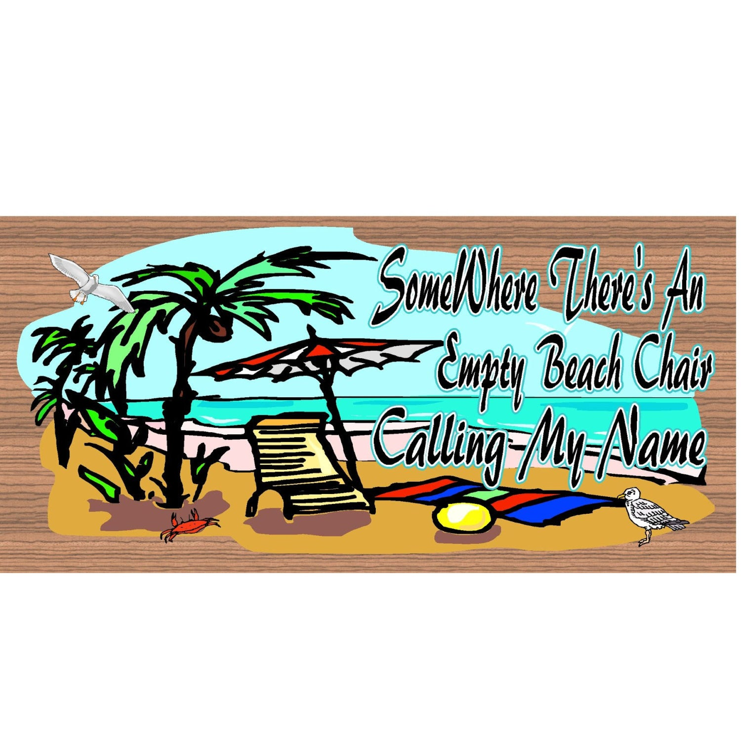 Beach Wood Signs -Tropical Plaque GS 961 - Tropical Sign - Beach Decor