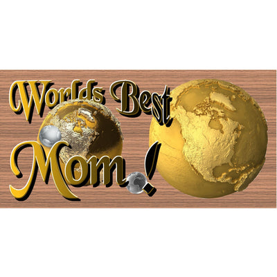 Mom Wood Signs -Worlds Best Mom -GS 1276