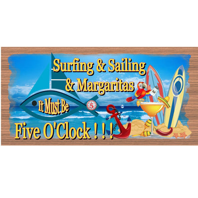 Beach Wood Signs -Surfing and Sailing and Margaritas GS 1304 -Tropical Sign - Beach Decor