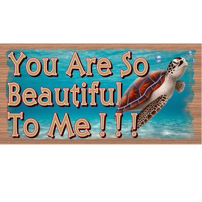 Romantic Wood Signs -GS 1315- Turtle plaque