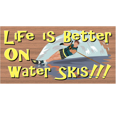 Water Ski Wood Signs- GS 1309 - Water Ski Plaque