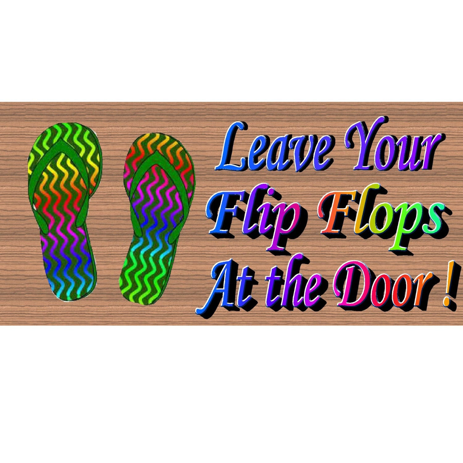 Flip Flop Wood Signs - GS 978 - Flip Flop Plaque