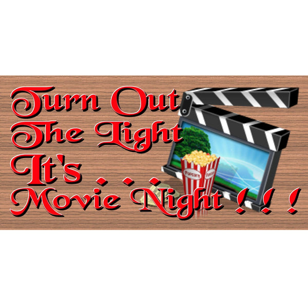Wood Signs - Handmade wood sign movie, GS1311, Home Decor wood sign, Movie sign