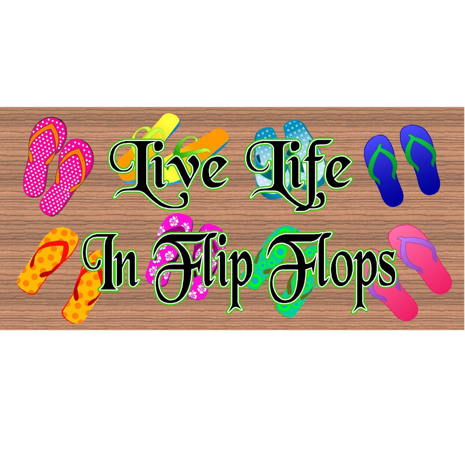 Flip Flop Wood Signs- GS 983 - Flop Flop Plaque