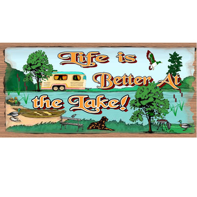 Lake Wood Signs -Life is Better At the Lake -GS 987 - Lake Plaque