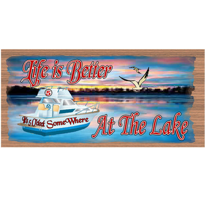 Lake Wood Signs -GS 988 - Lake Plaque