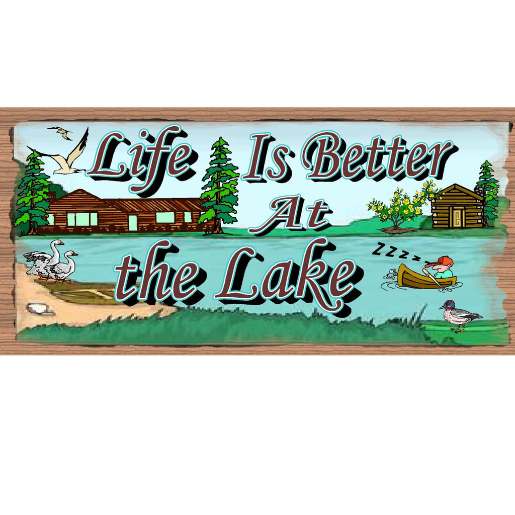 Wood Signs - Handmade Wood Sign Life is Better At the Lake - GS984 - Wood Plaque Lake - Lake Wood sign - Wood plaque Lake