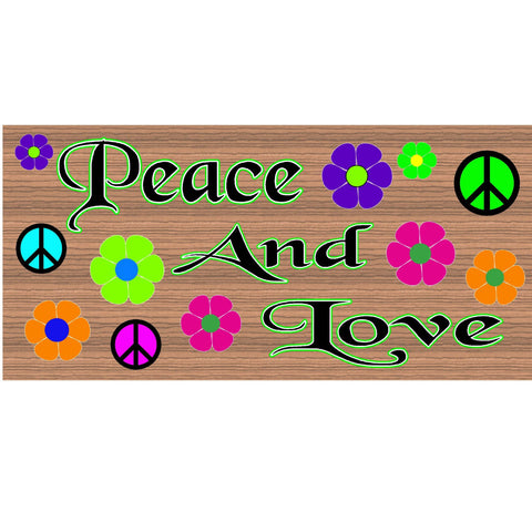 Wood Signs -Peace and Love GS 994 Wood Plaque
