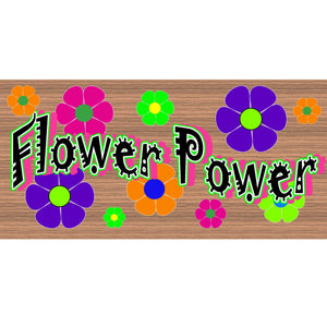 Hippie Wood Signs - Flower Power GS 995 Wood Plaque